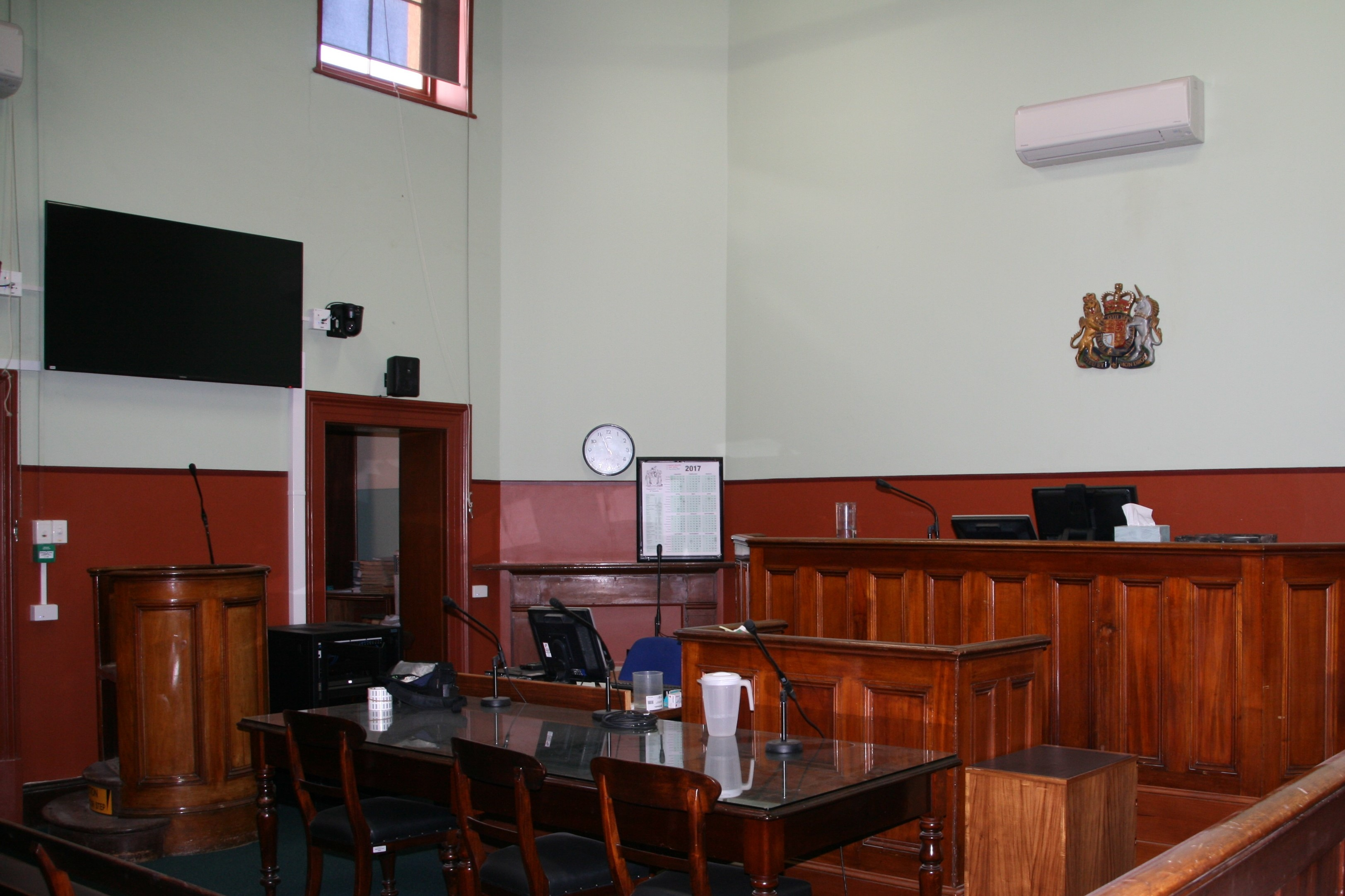 Courtroom at Bacchus Marsh Magistrates' Court