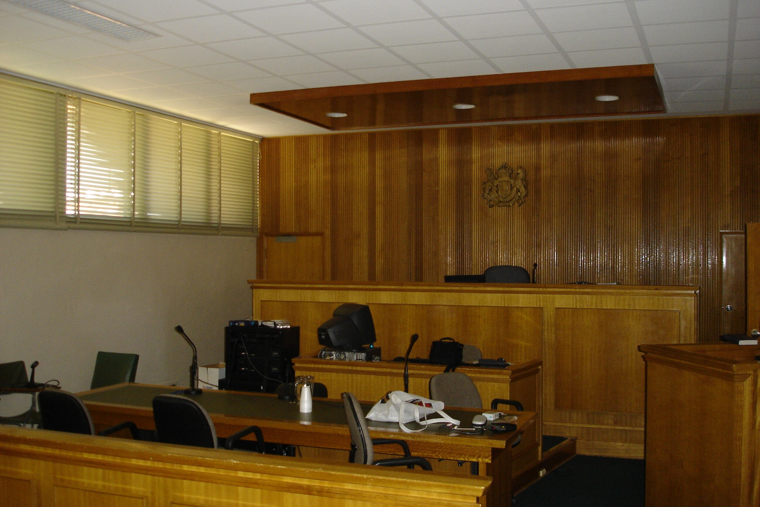 Courtroom inside Benalla Magistrates' Court