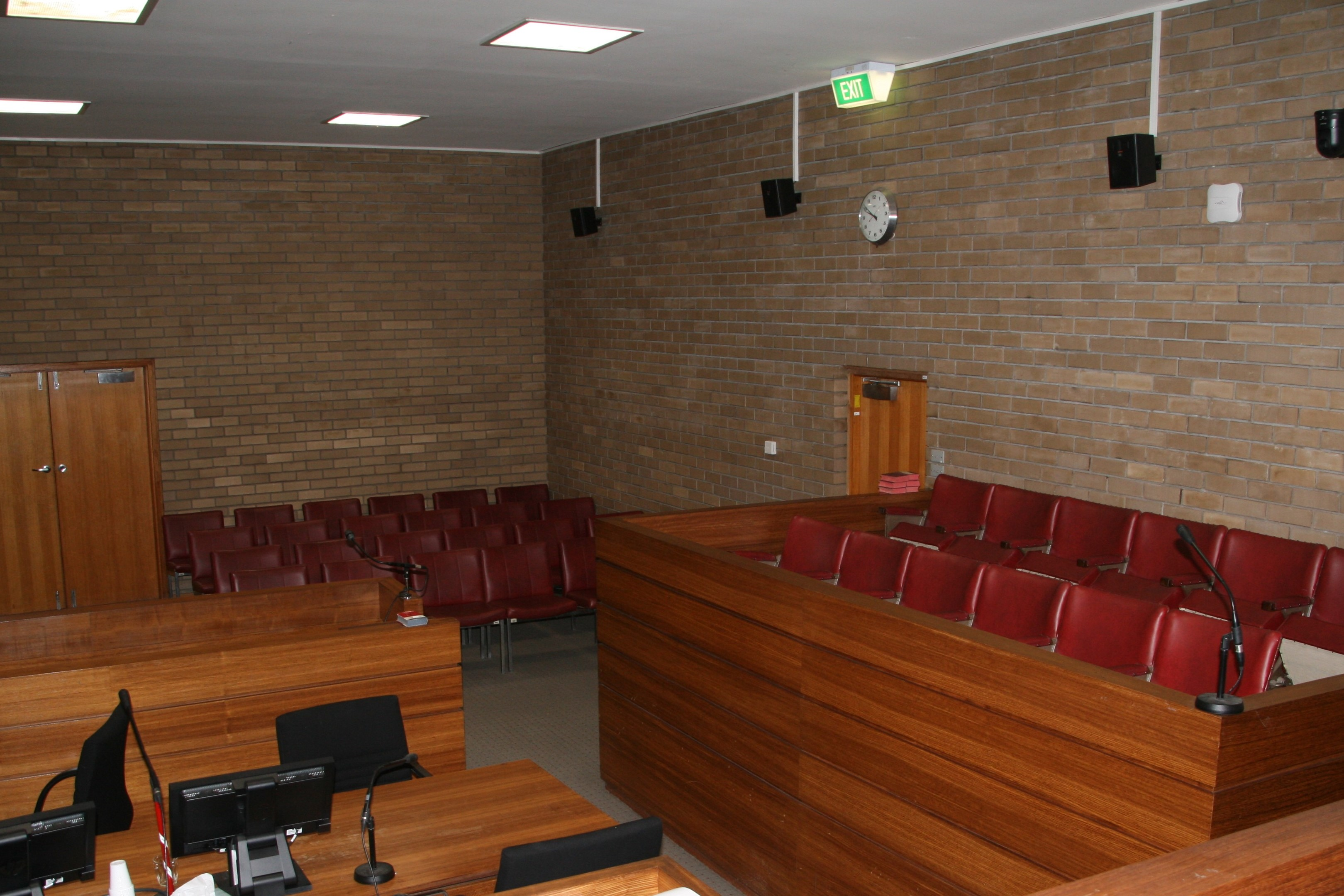 Courtroom inside Horsham Magistrates' Court