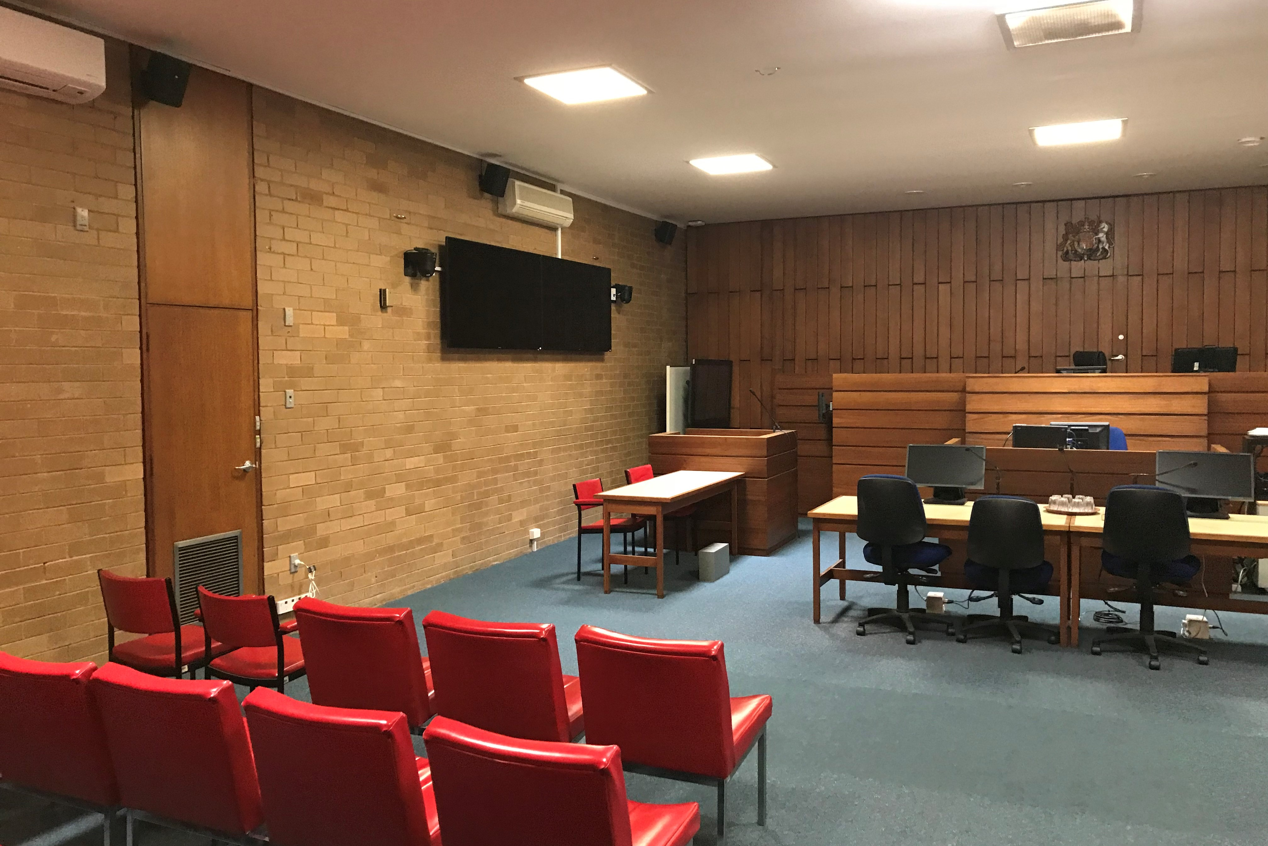 Courtroom inside Korumburra Magistrates' Court