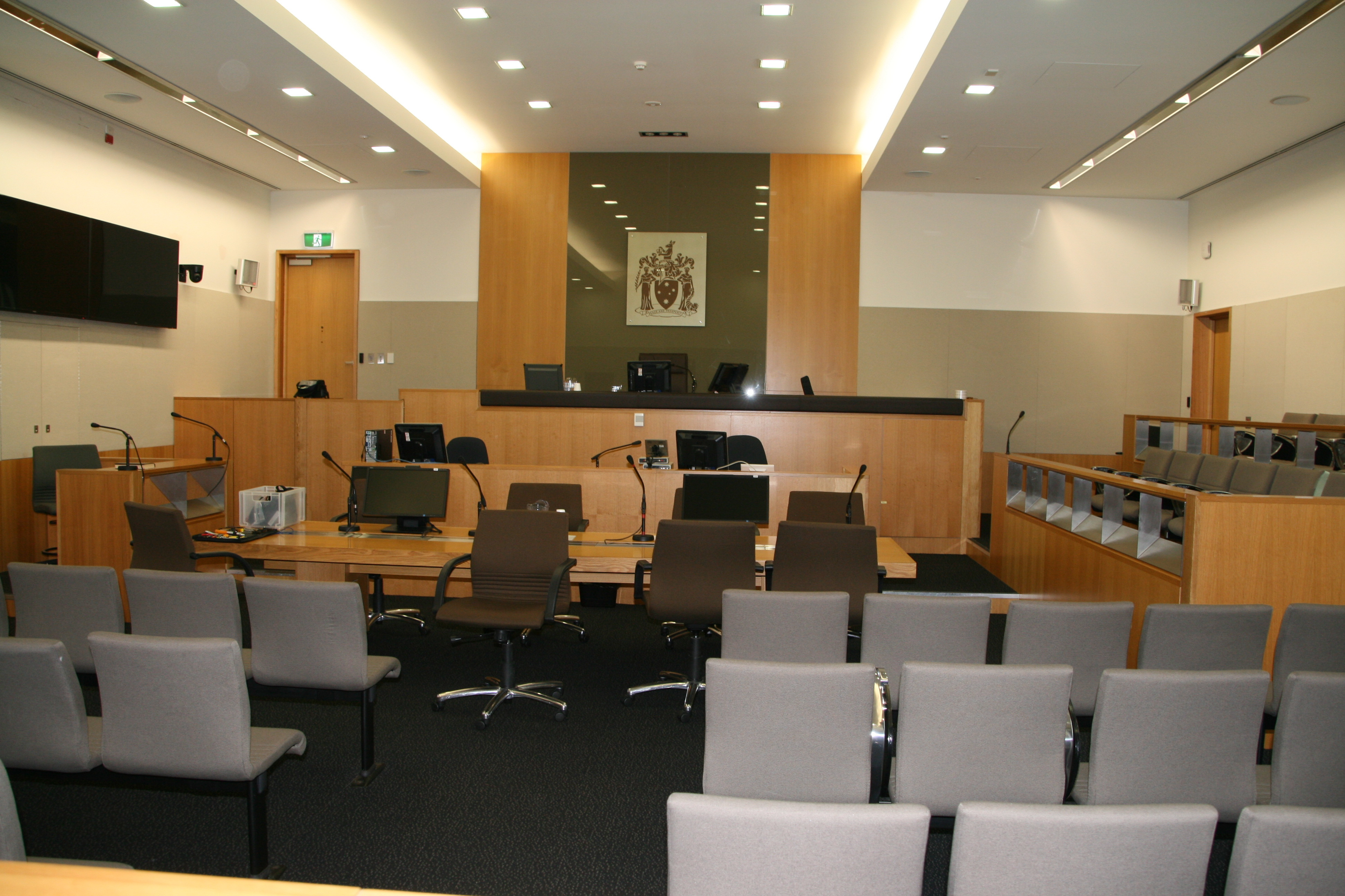 Courtroom inside Latrobe Valley Magistrates' Court