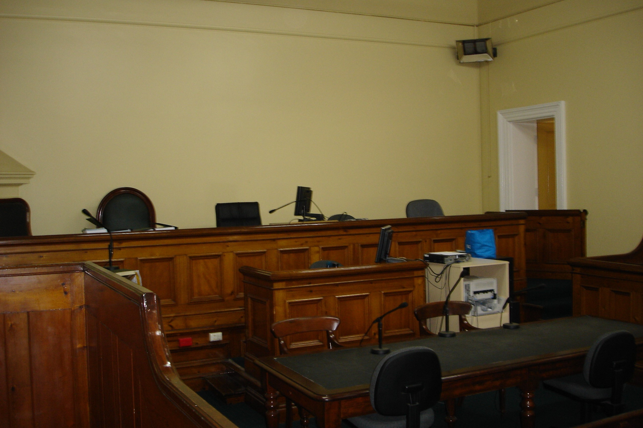 Courtroom inside of Mansfield Magistrates' Court