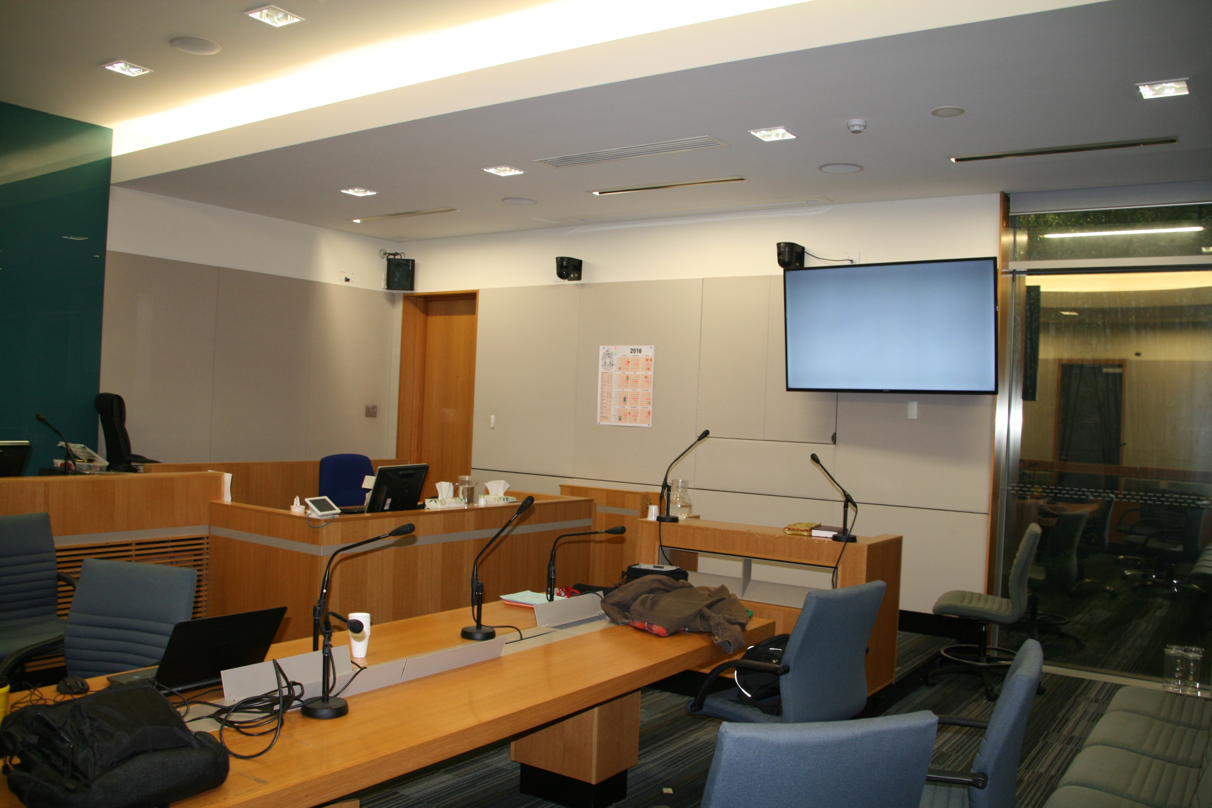 Courtroom in the Moorabbin Justice Centre