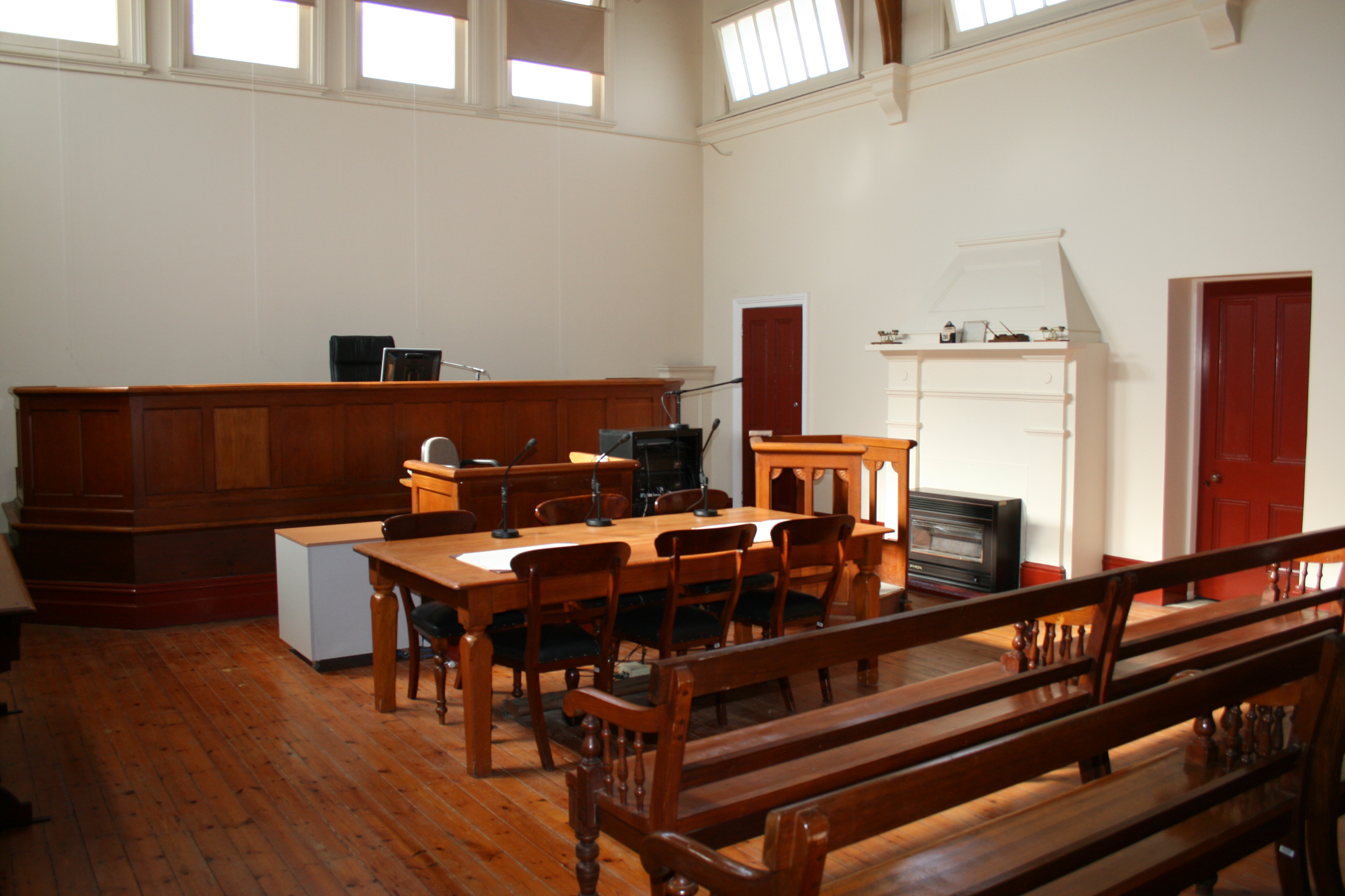 Courtroom at Nhill Magistrates' Court