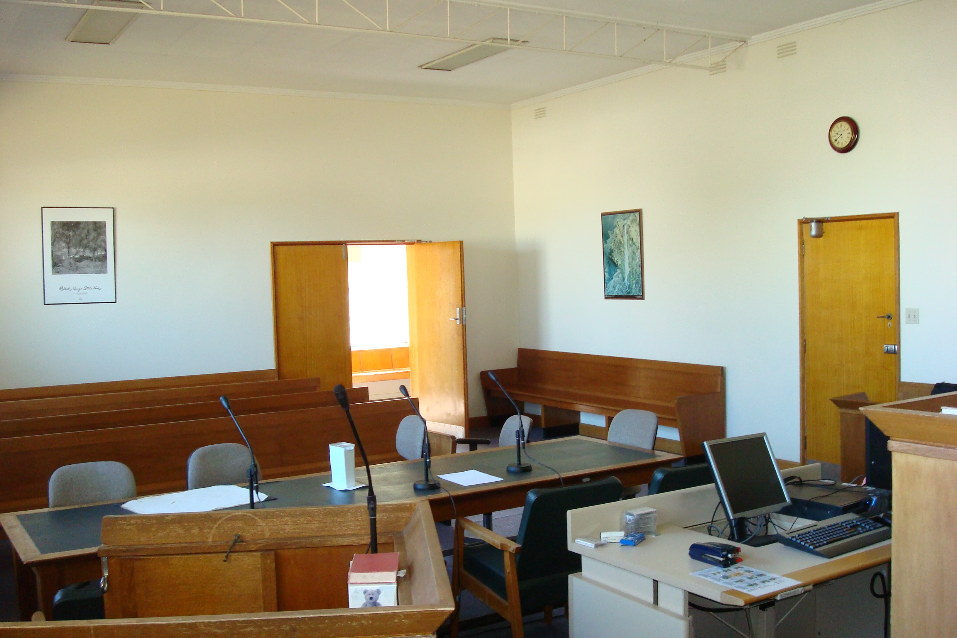 Courtroom at Orbost Magistrates' Court