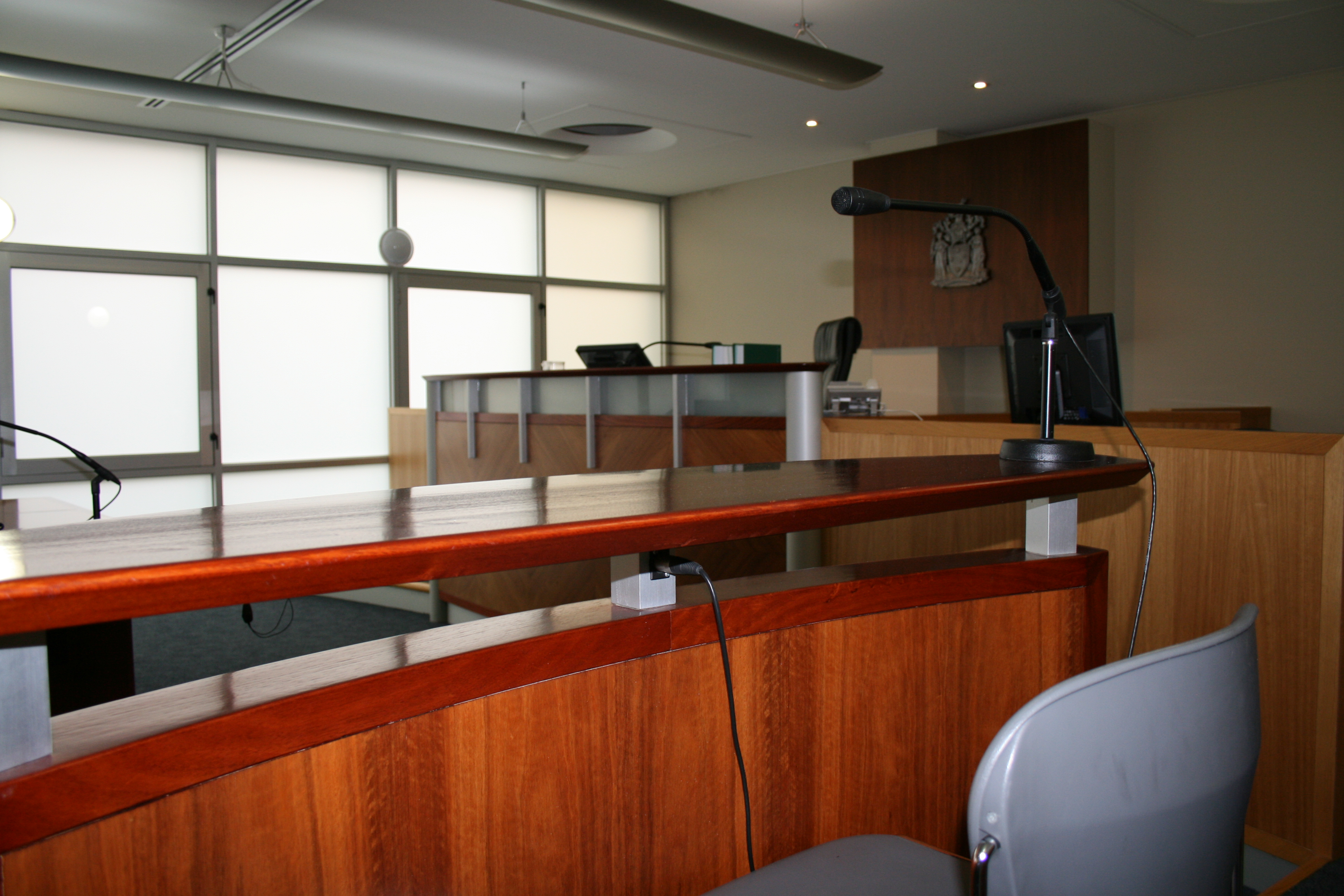 Courtroom in Ringwood Magistrates' Court