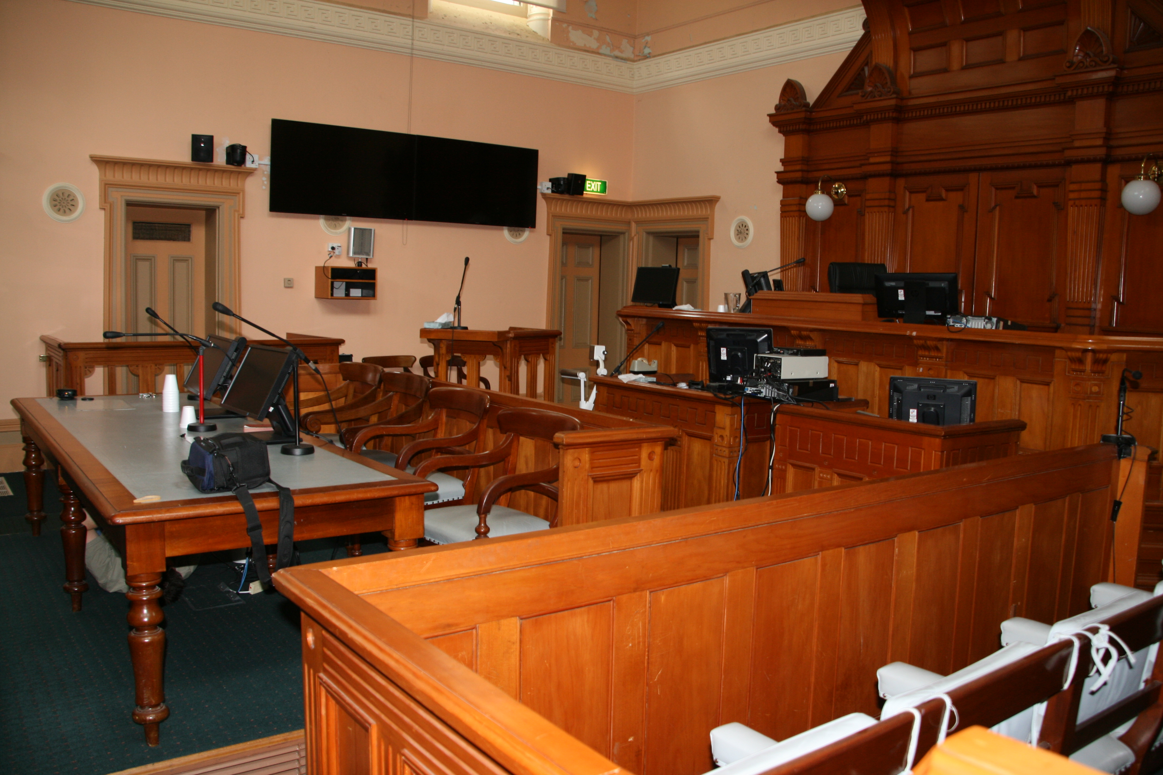 Courtroom at Sale Magistrates' Court