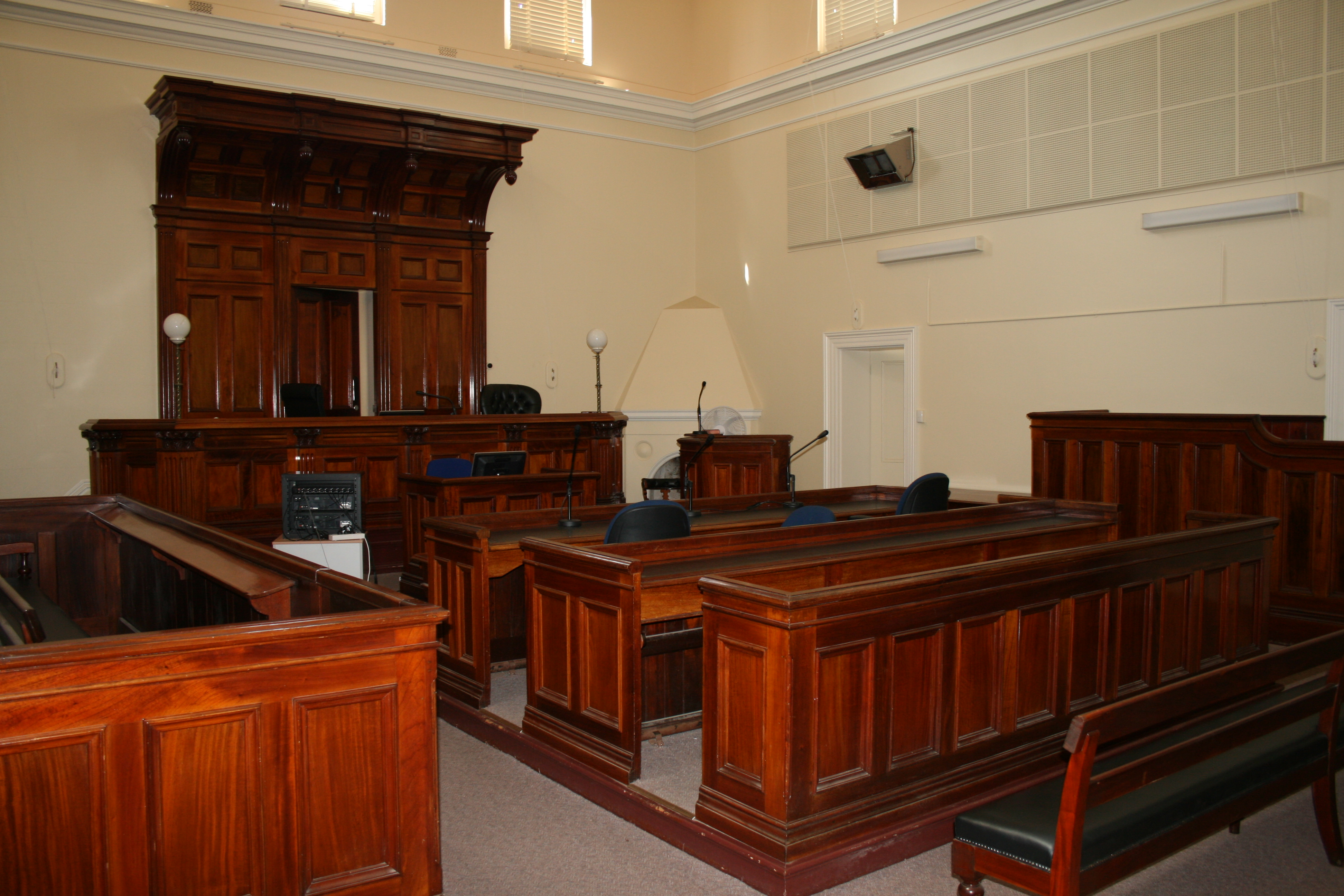 Courtroom at Stawell Magistrates' Court