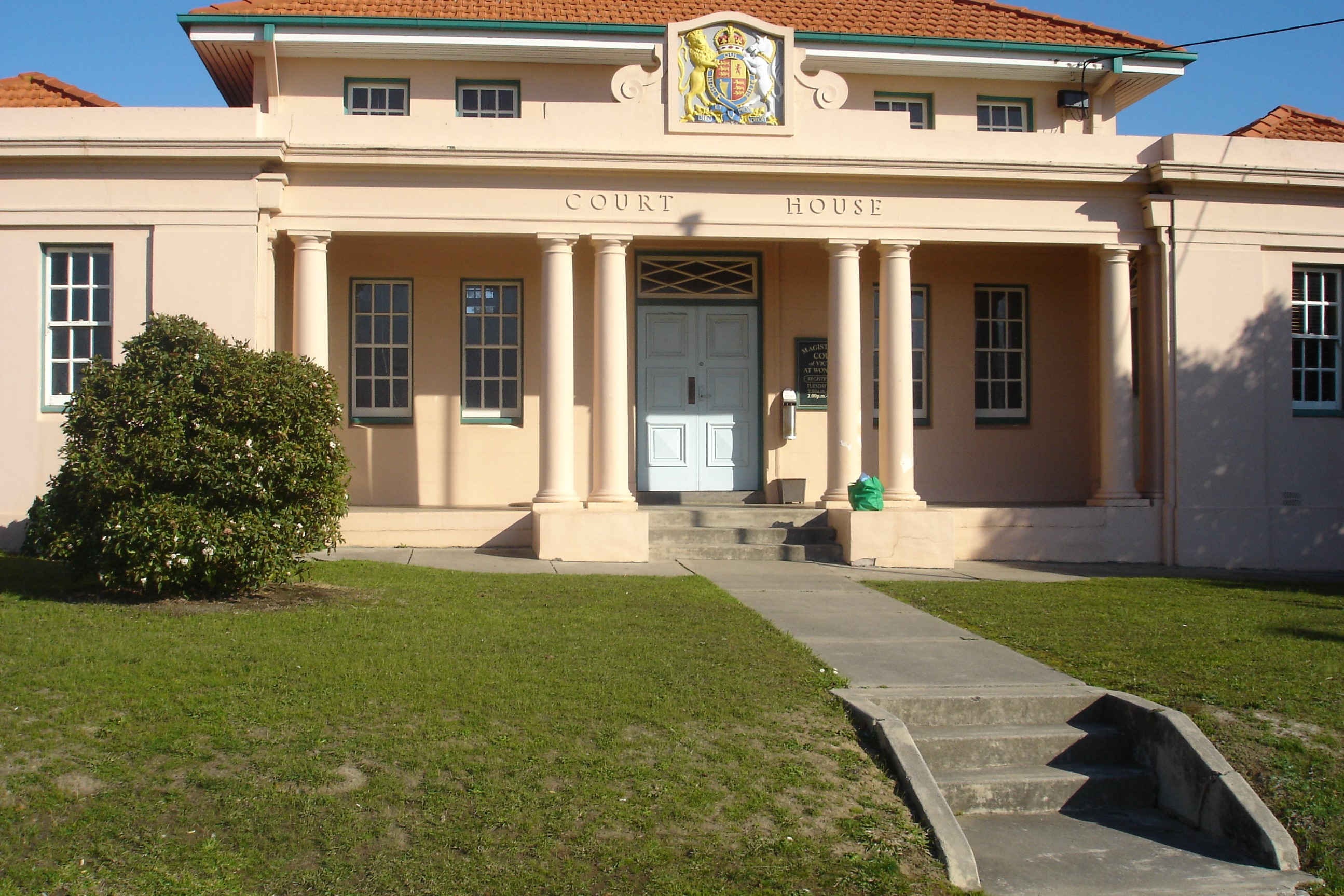 Outside view of Wonthaggi Magistrates' Court