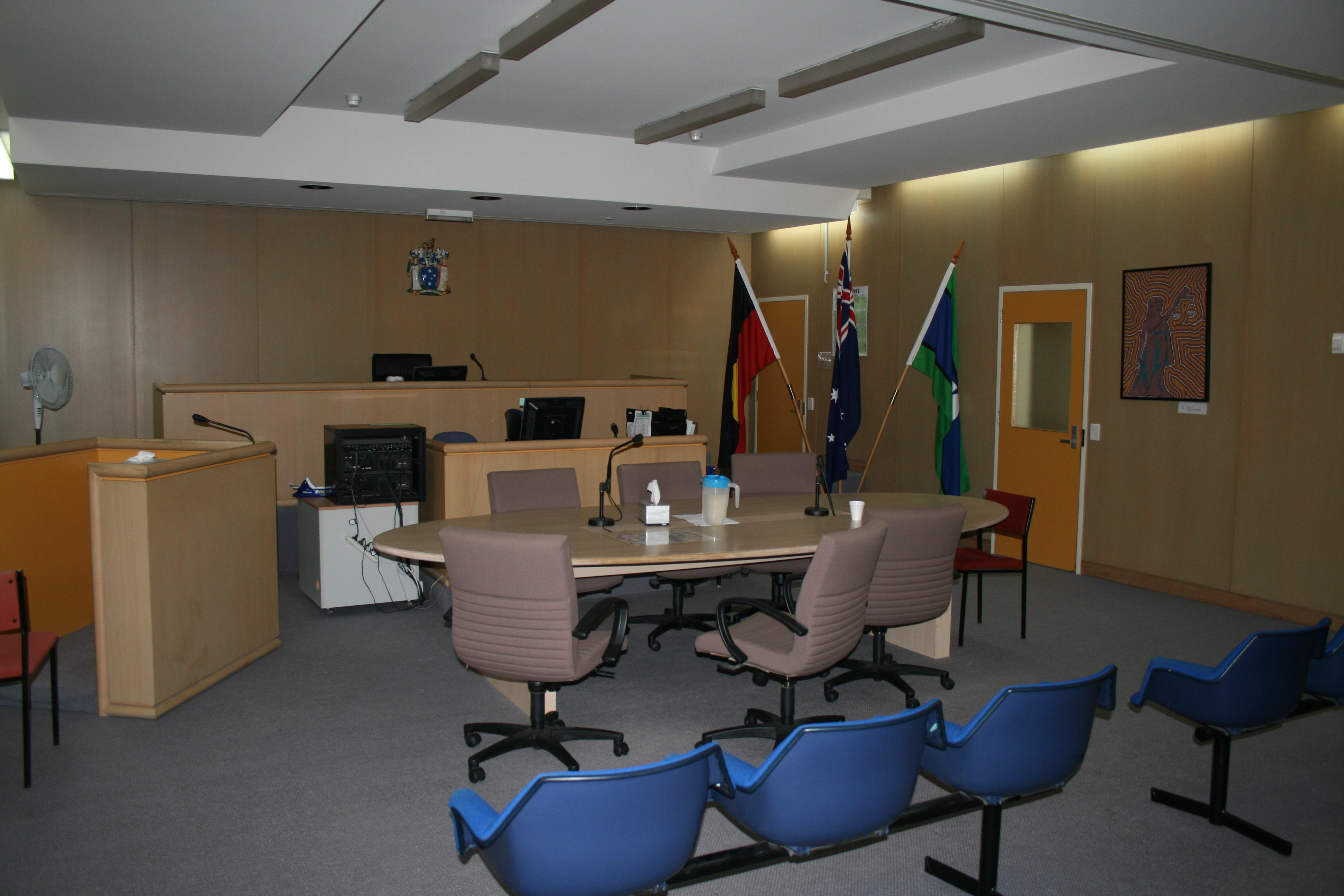 Courtroom inside of Broadmeadows Magistrates' Court