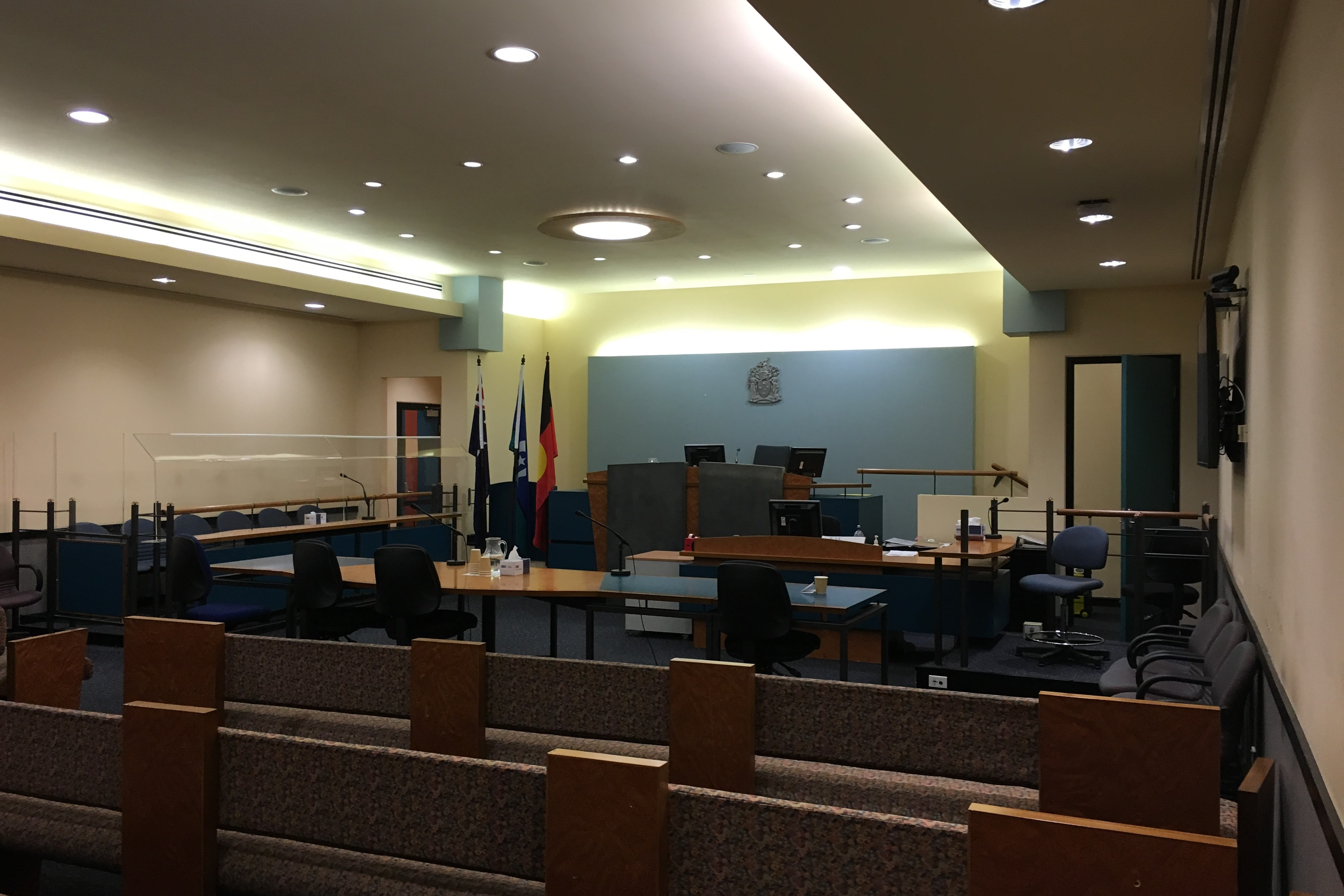 Courtroom inside Dandenong Magistrates' Court