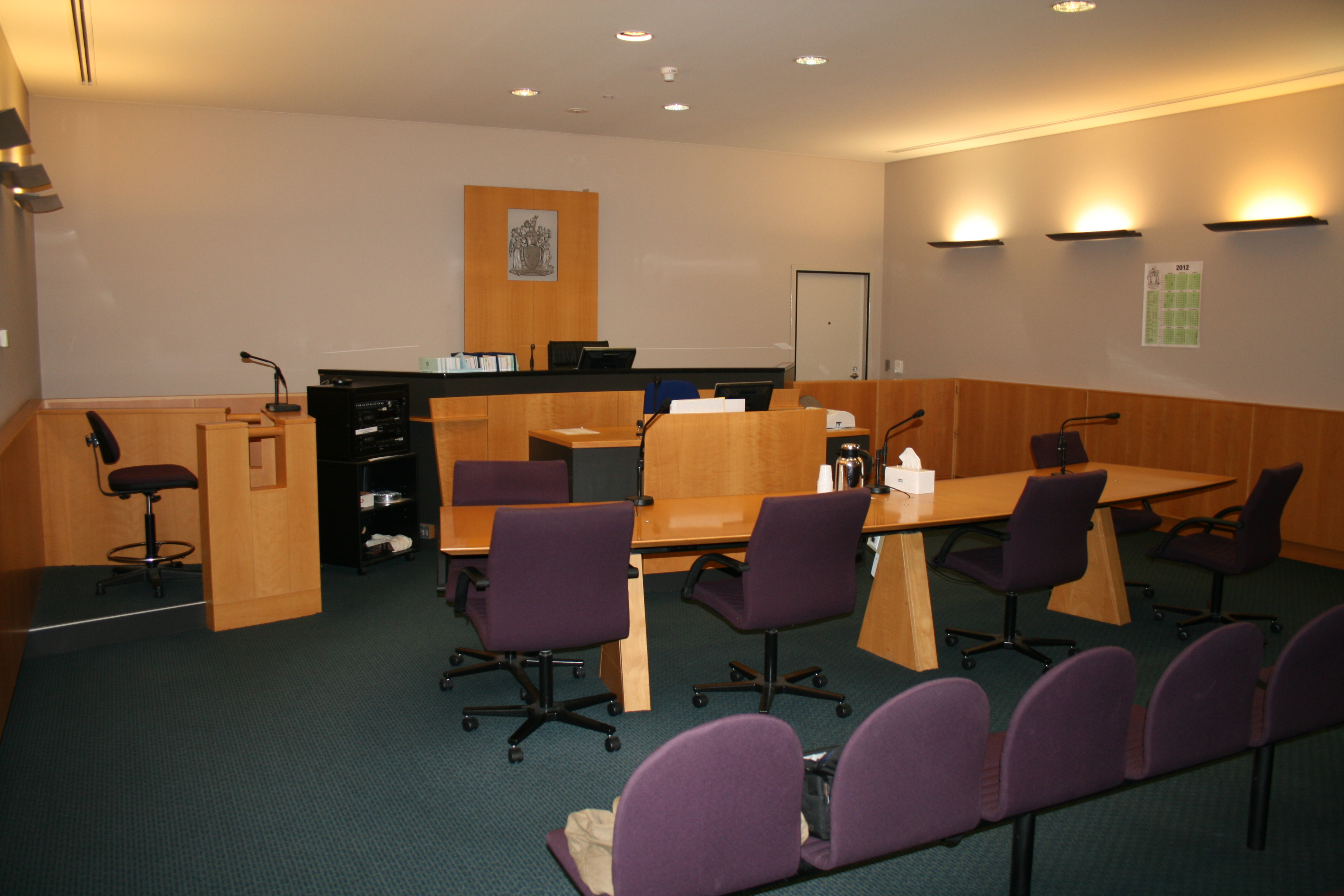 Courtroom inside Frankston Magistrates' Court