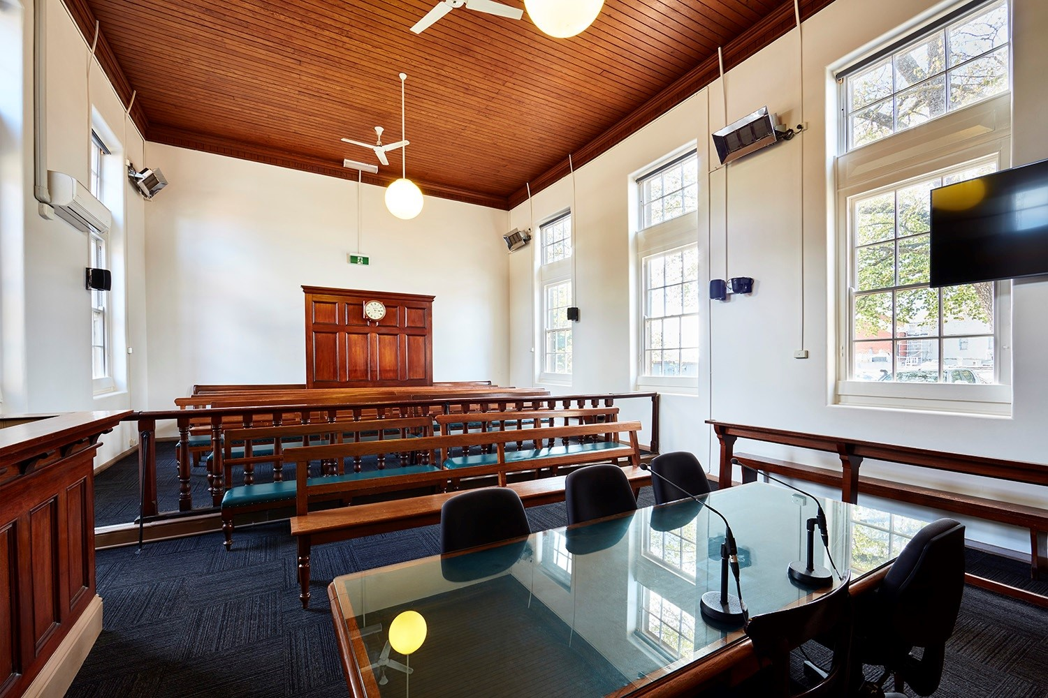 Courtroom inside KynetonMagistrates' Court